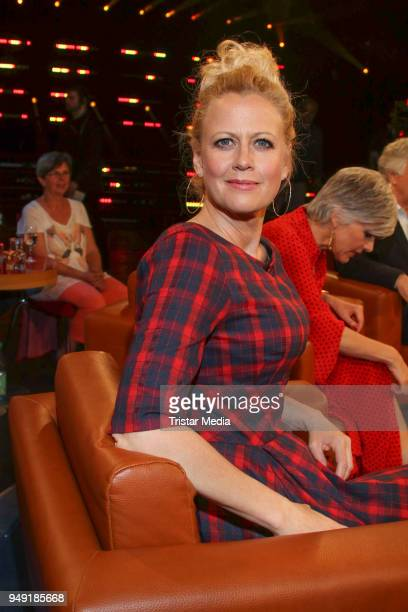 German presenter Barbara Schoeneberger during the NDR Talk Show on April 20 2018 in Hamburg Germany