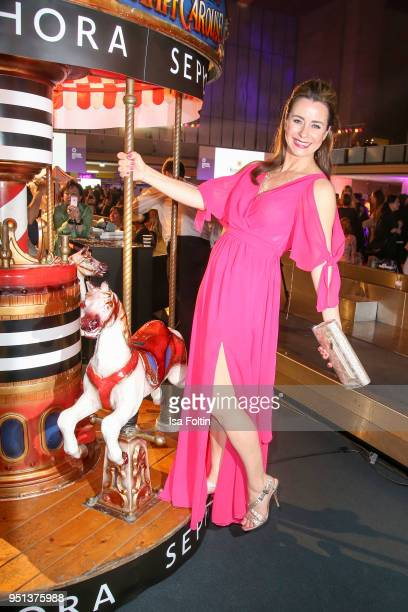 German presenter Bettina Cramer during the after show party of Duftstars at Flughafen Tempelhof on April 25 2018 in Berlin Germany