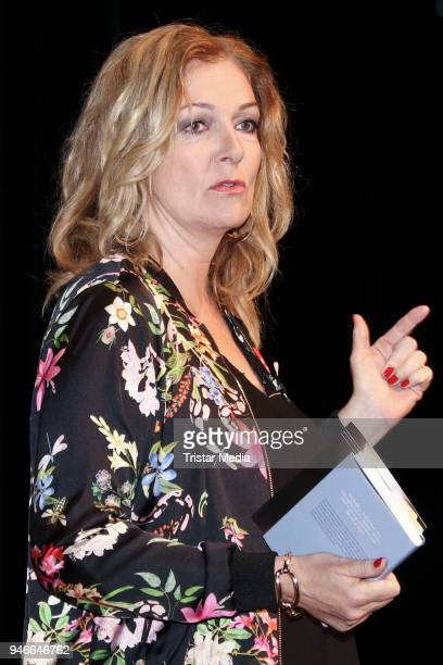 German presenter Bettina Tietjen during Hardy Krueger reads from his book 'Was das Leben sich erlaubt' on April 15 2018 in Hamburg Germany