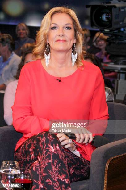 German presenter Bettina Tietjen during the TV Show 'Tietjen und Bommes' on October 27 2017 in Hanover Germany