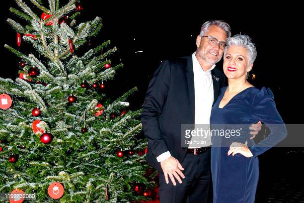 German presenter Birgit Schrowange and his partner Frank Spothelfer during the Daimlers BE A MOVER event at Ein Herz Fuer Kinder Gala at Studio...