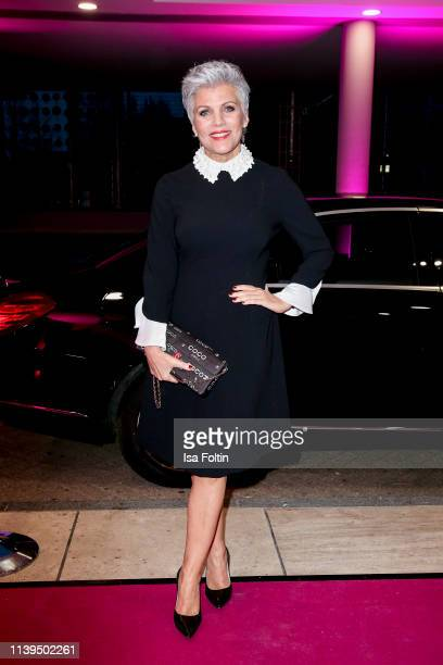 German presenter Birgit Schrowange attends the Gloria Deutscher Kosmetikpreis at Hilton Hotel on March 30 2019 in Duesseldorf Germany