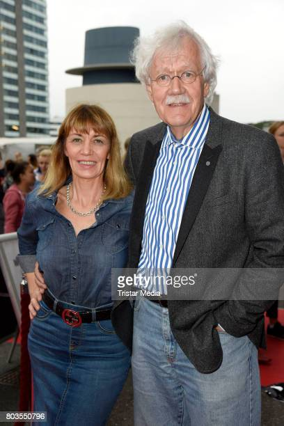 German presenter Carlo von Tiedemann and his wife Julia Laubrunn attend the 'Billy Elliott - The Musical' Hamburg Premiere at Mehr Theater on June...