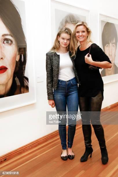 German presenter Carola Ferstl and her daughter Julia Ferstl attends the 'FotoKunstBoulevard' opening at MartinGropiusBau on May 4 2017 in Berlin...