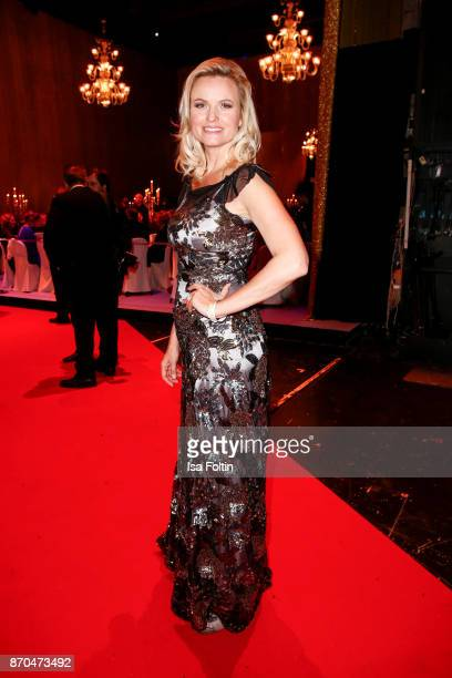 German presenter Carola Ferstl attends the aftershow party during during the 24th Opera Gala at Deutsche Oper Berlin on November 4 2017 in Berlin...