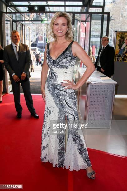 German presenter Carola Ferstl attends the annual Victress Awards gala at Universitaet der Kuenste on April 8 2019 in Berlin Germany