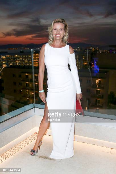 German presenter Carola Ferstl attends the Remus Lifestyle Night on August 2 2018 in Palma de Mallorca Spain