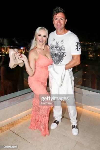 German presenter Daniela Katzenberger and her husband Lucas Cordalis attend the Remus Lifestyle Night on August 2 2018 in Palma de Mallorca Spain