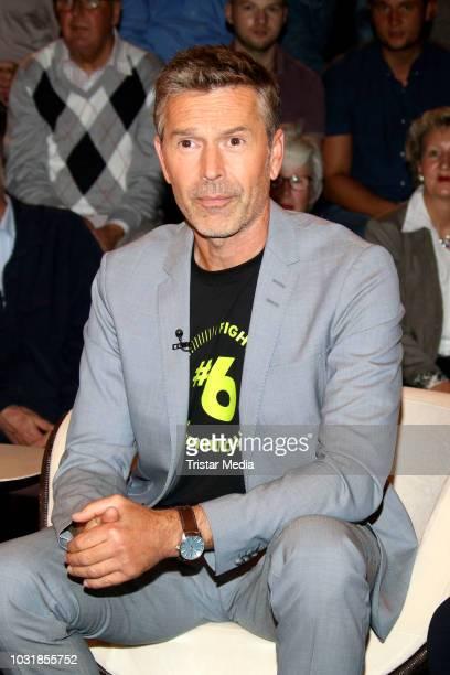German presenter Dirk Steffens during the 'Markus Lanz' TV show on September 11 2018 in Hamburg Germany