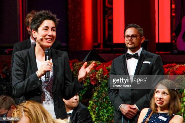 German presenter Dunja Hayali during the 8th VITA Charity Gala In Wiesbaden on October 28, 2017 in Wiesbaden, Germany.