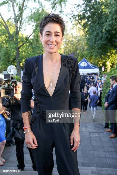 German presenter Dunja Hayali during the opening ceremony of the Bayreuth Festival at Bayreuth Festspielhaus on July 25 2018 in Bayreuth Germany