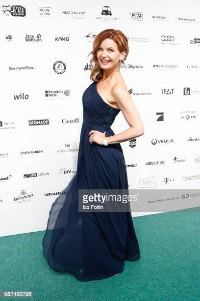German presenter Eva Imhof attends the GreenTec Awards at ewerk on May 12 2017 in Berlin Germany