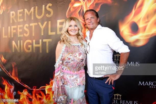 German presenter Frauke Ludowig and her husband Kai Roeffen attend the Remus Lifestyle Night on August 2 2018 in Palma de Mallorca Spain