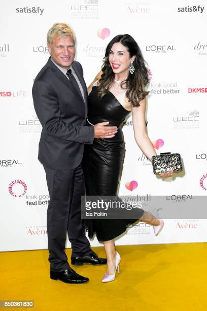 German presenter Gerhard Leinauer and her husband Gerhard Leinauer attend the Dreamball 2017 at Westhafen Event Convention Center on September 20...