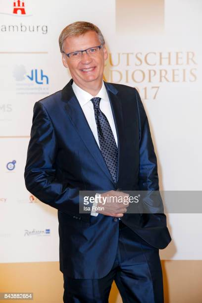 German presenter Guenther Jauch attends the 'Deutscher Radiopreis' at Elbphilharmonie on September 7 2017 in Hamburg Germany