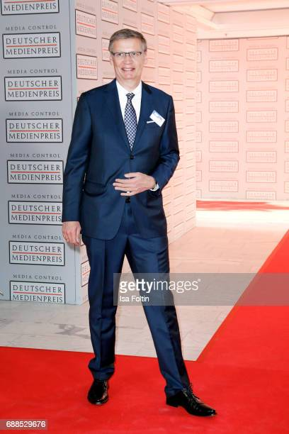 German presenter Guenther Jauch during the German Media Award 2016 at Kongresshaus on May 25 2017 in BadenBaden Germany The German Media Award has...