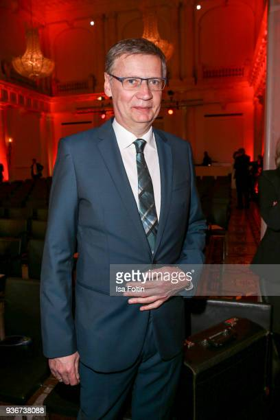 German presenter Guenther Jauch during the Reemtsma Liberty Award 2018 on March 22 2018 in Berlin Germany