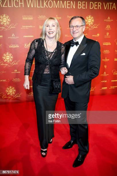 German presenter Heike Maurer and her husband Ralf Immel during the 8th VITA Charity Gala on October 28 2017 in Wiesbaden Germany