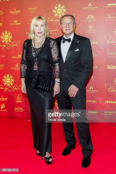 German presenter Heike Maurer and her husband Ralf Immel during the 8th VITA Charity Gala In Wiesbaden on October 28 2017 in Wiesbaden Germany