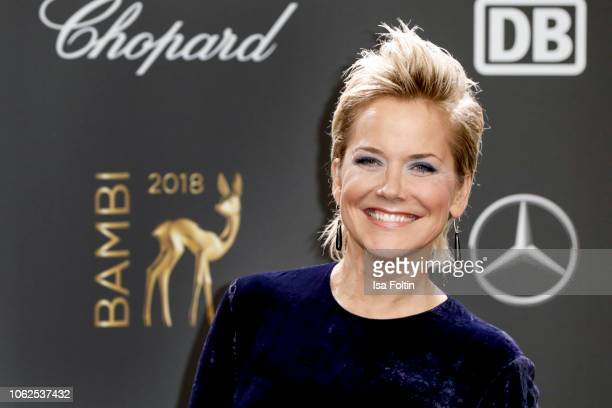 German presenter Inka Bause attends the 70th Bambi Awards at Stage Theater on November 16 2018 in Berlin Germany
