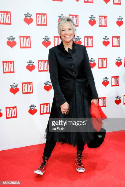 German presenter Inka Bause attends the 'Ein Herz fuer Kinder Gala' at Studio Berlin Adlershof on December 9 2017 in Berlin Germany