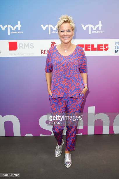 German presenter Inka Bause attends the Summer Reception Of VPRT Organization at LV Niedersachsen on September 5 2017 in Berlin Germany