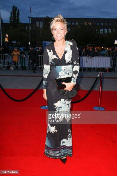 German presenter Inka Bause attends the UFA 100th anniversary celebration at Palais am Funkturm on September 15 2017 in Berlin Germany