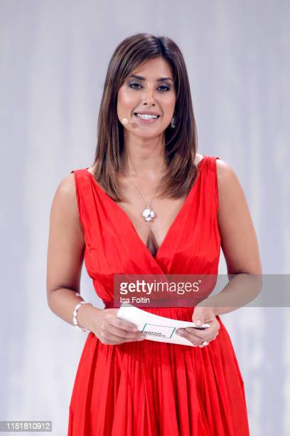 German presenter Jana Azizi during the Green Award as part of the Greentech Festival at Tempelhof Airport on May 24 2019 in Berlin Germany The...