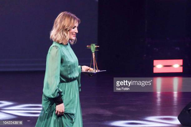German presenter Jeannine Michaelsen during the YouTube Goldene Kamera Digital Award at Kraftwerk Mitte on September 27, 2018 in Berlin, Germany.