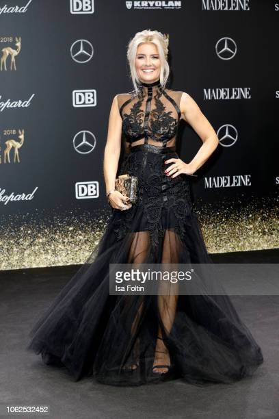 German presenter Jennifer Knaeble attends the 70th Bambi Awards at Stage Theater on November 16 2018 in Berlin Germany