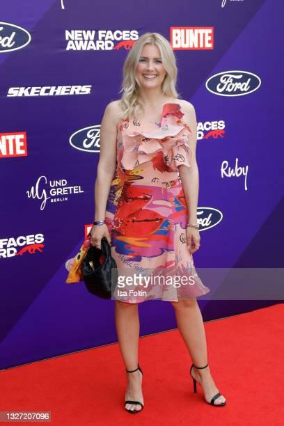 German presenter Jennifer Knaeble attends the Bunte New Faces Award Style on July 5, 2021 in Frankfurt am Main, Germany.