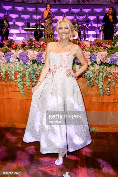 German presenter Jennifer Knaeble during the 9th VITA Charity Gala at Kurhaus Wiesbaden on October 13 2018 in Wiesbaden Germany