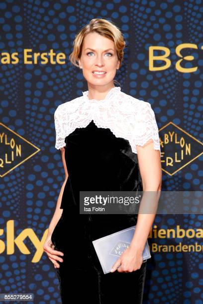 German presenter Jessy Wellmer attends the 'Babylon Berlin' Premiere at Berlin Ensemble on September 28, 2017 in Berlin, Germany.