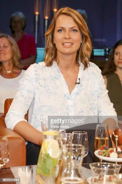 German presenter Jessy Wellmer during the NDR Talk show on June 1 2018 in Hamburg Germany
