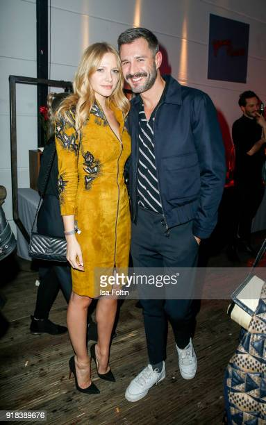 German presenter Jochen Schropp and Bianca Wolf during the Young ICONs Award in cooperation with ICONIST at SpindlerKlatt on February 14 2018 in...