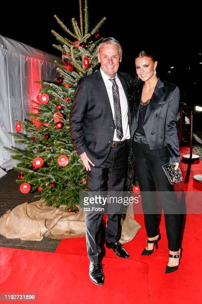 German presenter Joerg Wontorra and his daughter German presenter Laura Wontorra during the Daimlers BE A MOVER event at Ein Herz Fuer Kinder Gala at...