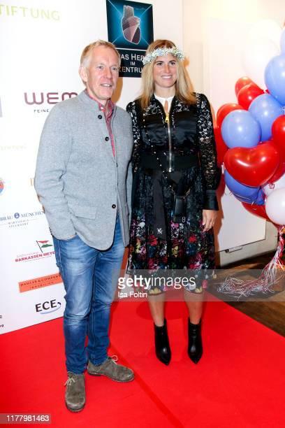 German presenter Johannes B Kerner and former German Hockey player Britta BeckerKerner attends the Charity Gala Das Herz im Zentrum at Hofbraeuhas on...