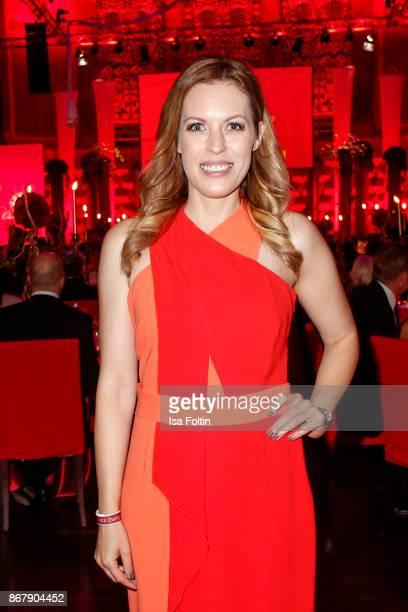 German presenter Jule Goelsdorf attends the 8th VITA Charity Gala on October 28 2017 in Wiesbaden Germany
