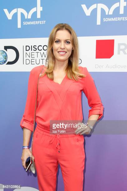 German presenter Jule Goelsdorf attends the Summer Reception Of VPRT Organization at LV Niedersachsen on September 5 2017 in Berlin Germany