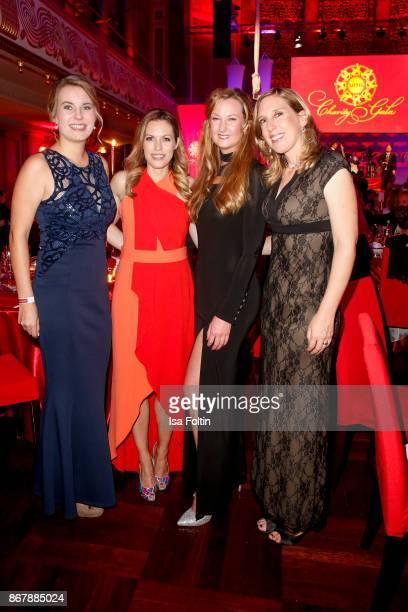German presenter Jule Goelsdorf German actress Daniela Schwerdt and Susanne Munz attend the 8th VITA Charity Gala on October 28 2017 in Wiesbaden...