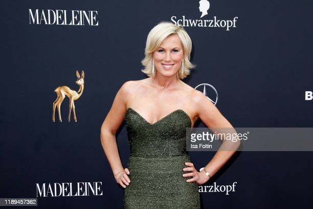 German presenter Kamilla Senjo arrives for the 71st Bambi Awards at Festspielhaus BadenBaden on November 16 2019 in BadenBaden Germany