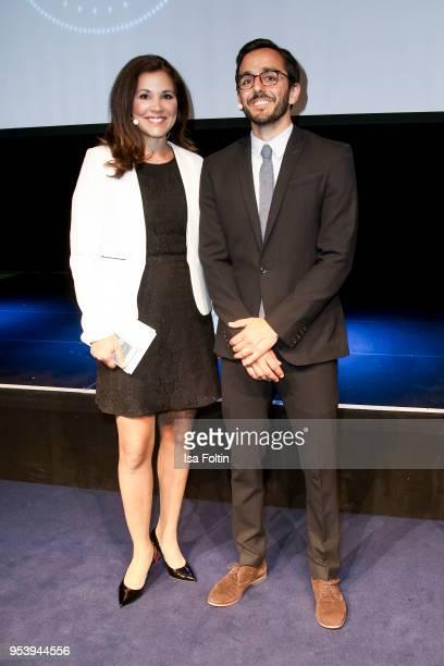 German presenter Karen Webb and German presenter Leonhard Nima at the KickOffEvent of the talk series 'IDEEN HABEN KRAFT' on the occasion of the...