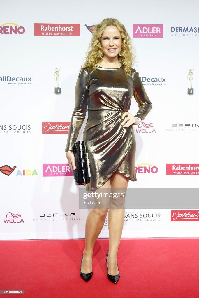German presenter Katja Burkard attends the 'Goldene Bild der Frau' award at Hamburg Cruise Center on October 21, 2017 in Hamburg, Germany.