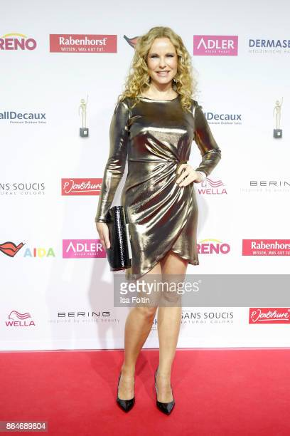 German presenter Katja Burkard attends the 'Goldene Bild der Frau' award at Hamburg Cruise Center on October 21 2017 in Hamburg Germany
