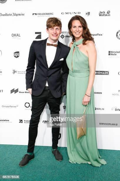 German presenter Katrin Wrobel and Lars Urban attend the GreenTec Awards at ewerk on May 12 2017 in Berlin Germany