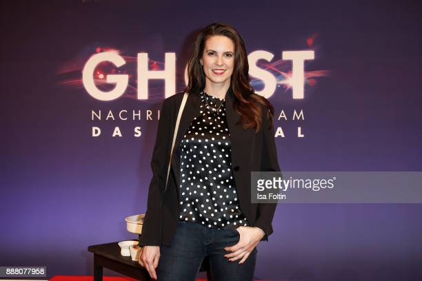 German presenter Katrin Wrobel during the premiere of 'Ghost Das Musical' at Stage Theater on December 7 2017 in Berlin Germany