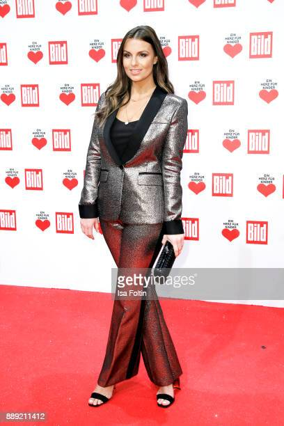 German presenter Laura Wontorra attends the 'Ein Herz fuer Kinder Gala' at Studio Berlin Adlershof on December 9 2017 in Berlin Germany
