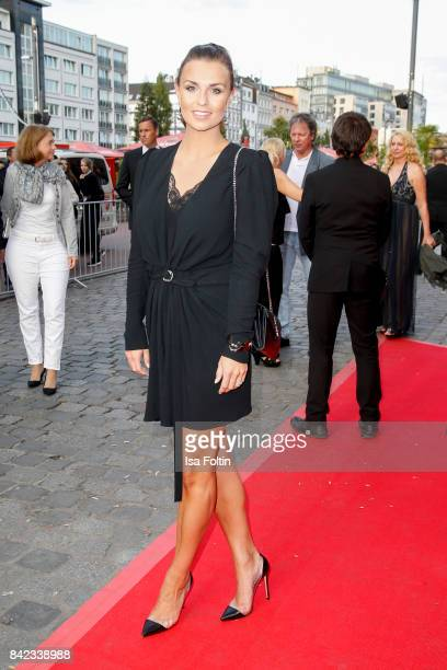 German presenter Laura Wontorra attends the 'Nacht der Legenden' at Schmidts Tivoli on September 3 2017 in Hamburg Germany