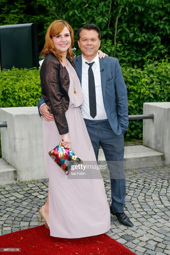 German presenter Markus Kavka and his wife Babette Kavka attend the Bayerischer Fernsehpreis 2017 at Prinzregententheater on May 19, 2017 in Munich, Germany.