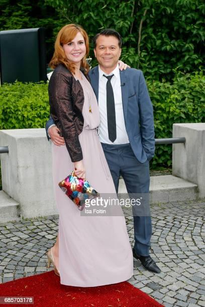 German presenter Markus Kavka and his wife Babette Kavka attend the Bayerischer Fernsehpreis 2017 at Prinzregententheater on May 19 2017 in Munich...